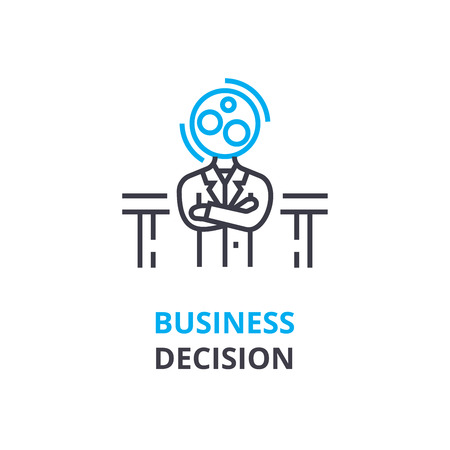 Business decision concept , outline icon, linear sign, thin line pictogram, logo, flat illustration, vector