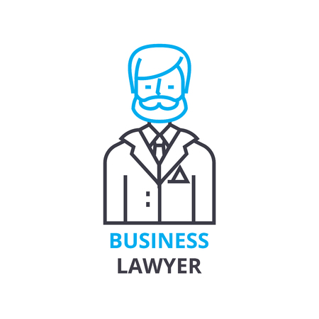 Business lawyer concept , outline icon, linear sign, thin line pictogram, logo, flat illustration, vector Stock fotó - 88772504