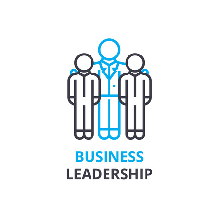 Business leadership concept , outline icon, linear sign, thin line pictogram, logo, flat illustration, vector Vettoriali
