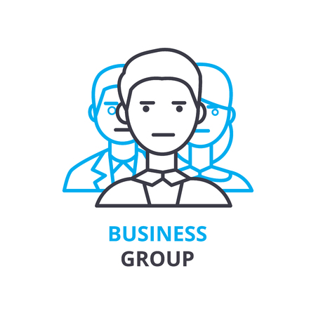 Business group concept , outline icon, linear sign, thin line pictogram, logo, flat illustration, vector Logo