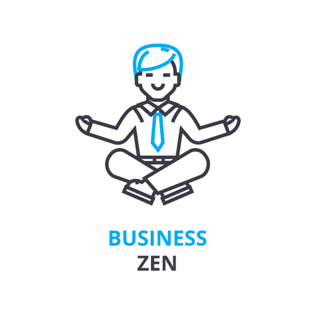 Business zen concept , outline icon, linear sign, thin line pictogram, logo, flat illustration, vector Ilustração