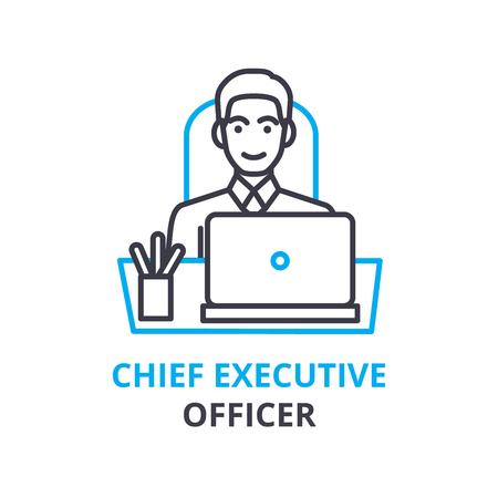 Chief Executive Officer concept, overzicht pictogram, lineaire teken, dunne lijn pictogram, logo, vlakke afbeelding, vector