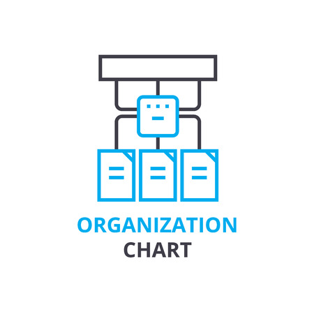 Organization chart concept , outline icon, linear sign, thin line pictogram, logo, flat illustration, vector