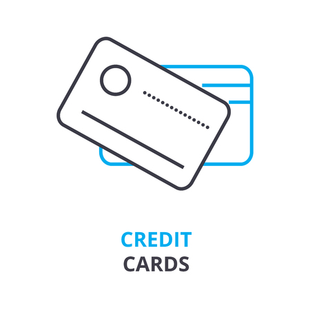 Credit cards icon illustration.