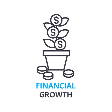 Icona di concetto di crescita finanziaria. Archivio Fotografico - 88777469
