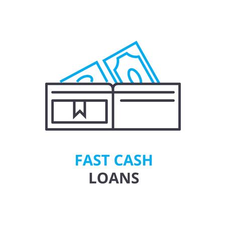 빠른 현금 대출 개념 아이콘입니다.