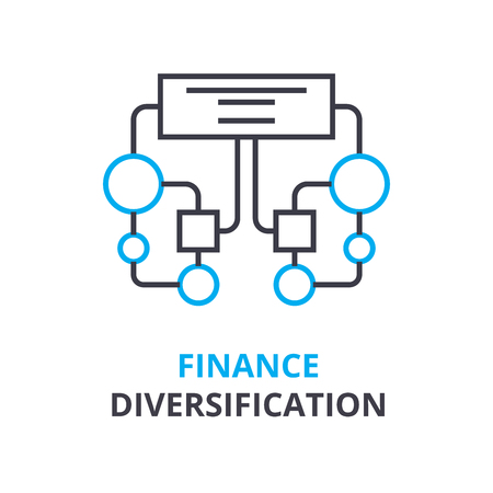 Finance diversifying  concept icon. 向量圖像