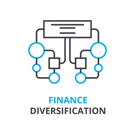 Finance diversifying  concept icon. Illusztráció