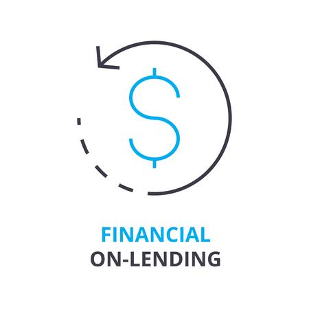 Financial on-lending concept icon.