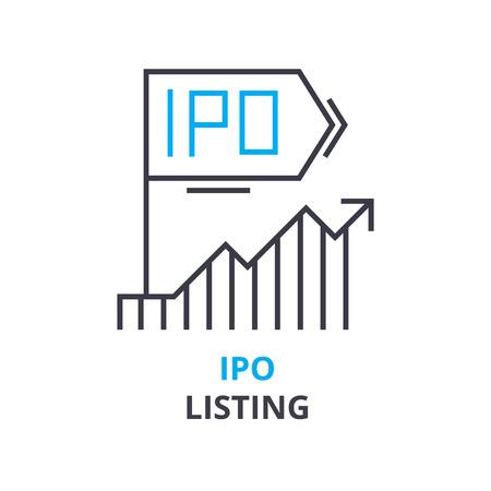 IPO 리스팅 컨셉 아이콘.