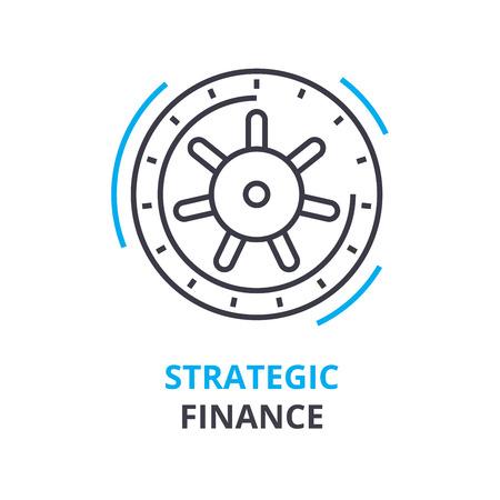 Strategic finance concept icon.