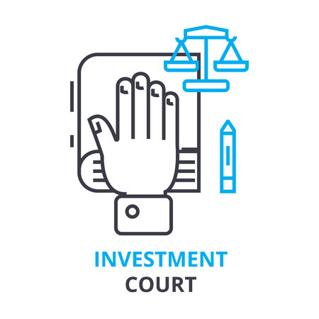 Investment court concept icon. 向量圖像