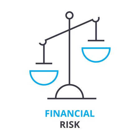 金融リスクの概念、アウトライン アイコン ベクトル図。 写真素材 - 88782170