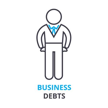 ビジネス債務概念, アウトラインのアイコン、線形符号、細い線ピクトグラム、ロゴ、フラット ベクトル, イラスト 写真素材 - 88844313