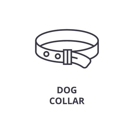 A dog collar line icon, outline sign,  outline symbol flat vector illustration
