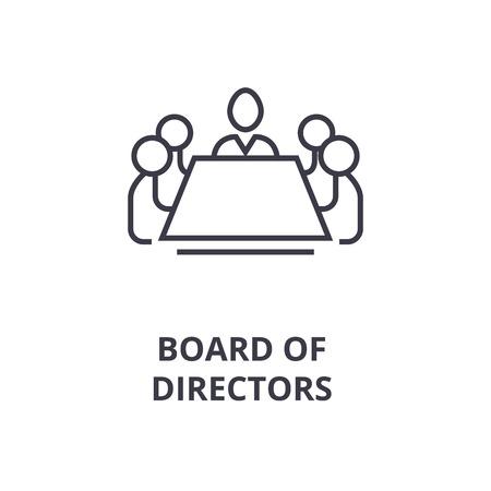 Symbole abstrait de l'icône de ligne du conseil d'administration, illustration de contour design plat vector