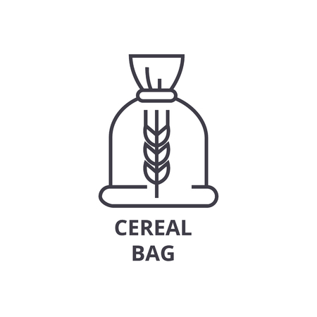 Ceral bag line icon, outline sign, linear symbol, flat vector illustration. Stok Fotoğraf - 91056632