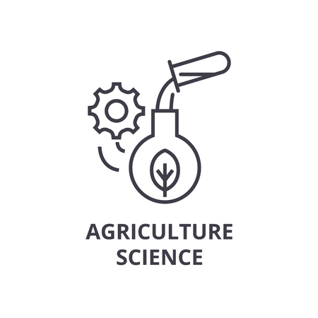 Agrarische wetenschap lijn pictogram. Stock Illustratie