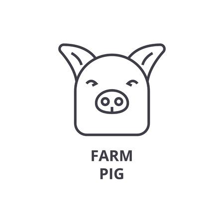 돼지 라인 아이콘 그림입니다.