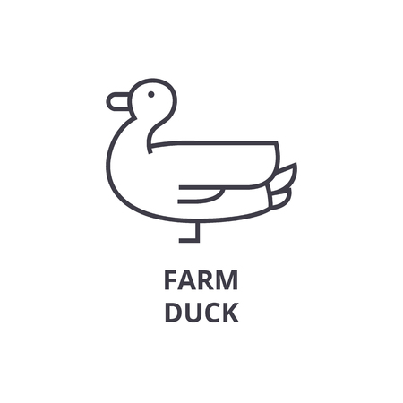 Duck line icon illustration.