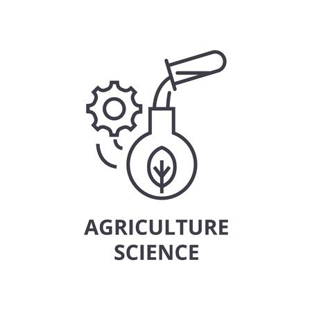 Landbouw wetenschap lijn pictogram. Stock Illustratie