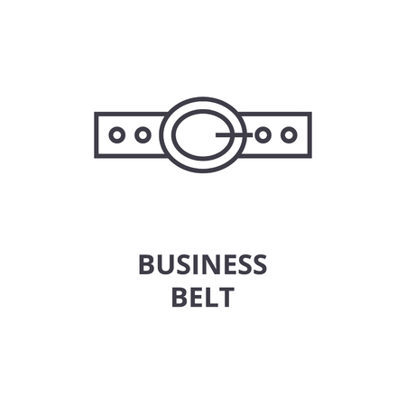 Business belt line icon illustration.