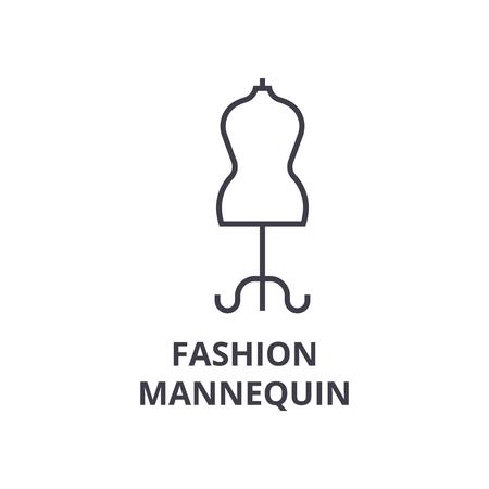 Icono de la moda maniquí de línea . Foto de archivo - 91057056