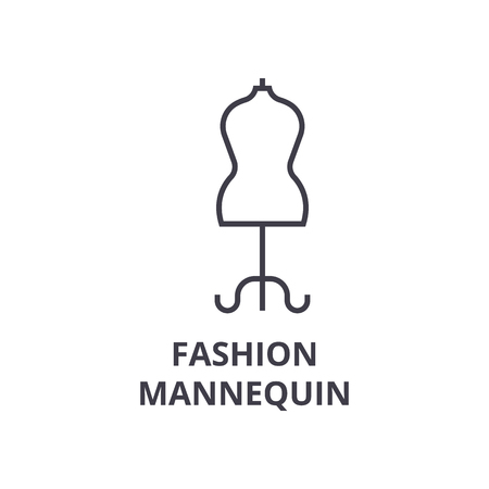 Fashionable mannequin line icon. Illustration