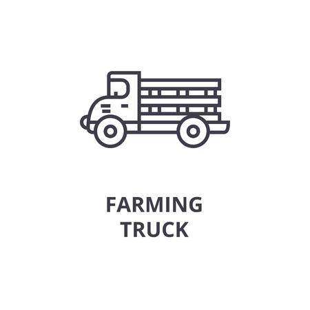 Truck line icon.