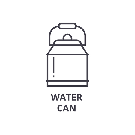 water can line icon, outline sign, linear symbol, flat vector illustration
