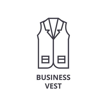 ビジネス ベスト ライン アイコン、アウトライン記号、線形シンボル、フラットのベクトル図