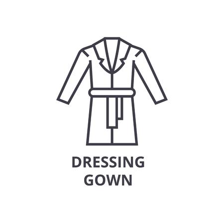 Gown line icon. Иллюстрация