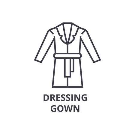 421f9a44e7 Gown line icon. Illustration