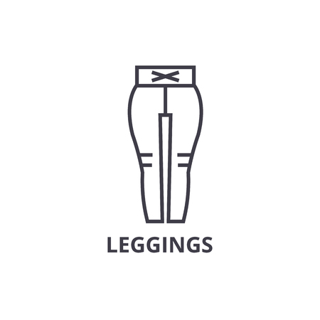 Leggings line icon.