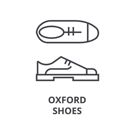 oxford shoes line icon, outline sign, linear symbol, flat vector illustration Illustration