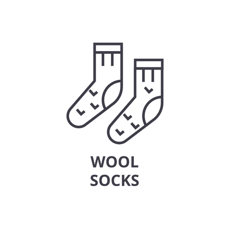 Wool socks line icon.