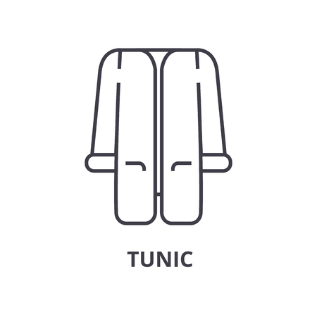 tunic line icon, outline sign, linear symbol, flat vector illustration