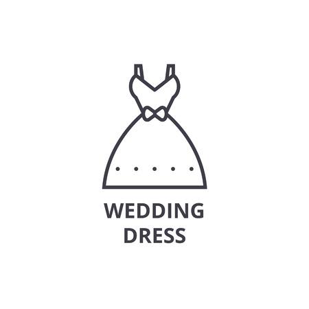 웨딩 드레스 라인 아이콘입니다.