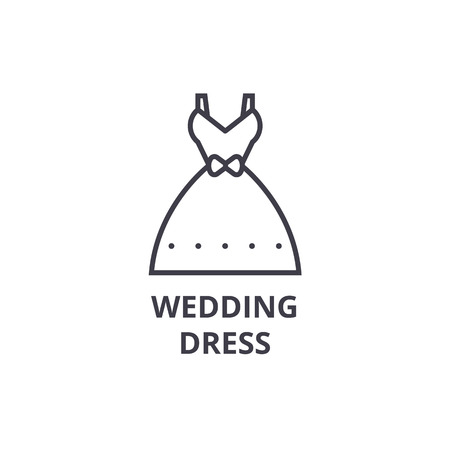 Wedding gown line icon.
