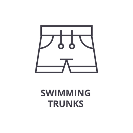 swimming trunks line icon, outline sign, linear symbol, flat vector illustration