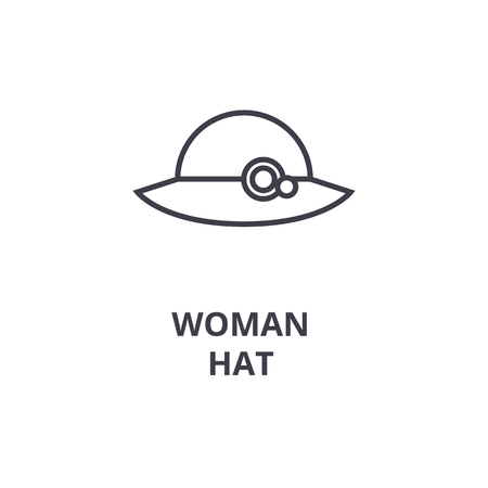 A Woman Hat Line Icon 3f9d32a985f7