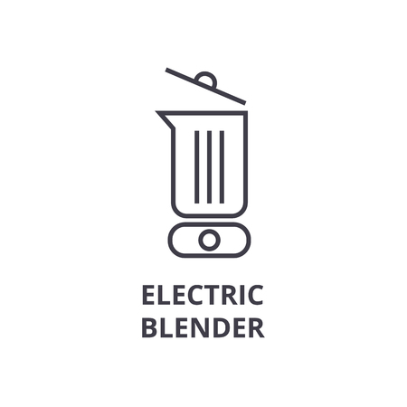electric blender line icon, outline sign, linear symbol, flat vector illustration