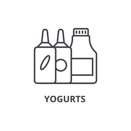Yogurts line icon. Illustration