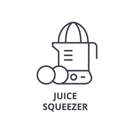 juice squeezer line icon, outline sign, linear symbol, flat vector illustration