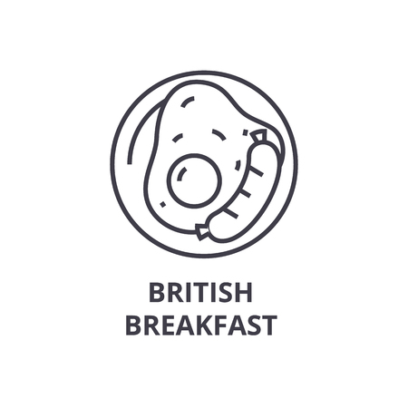 イギリスの朝食線アイコン。