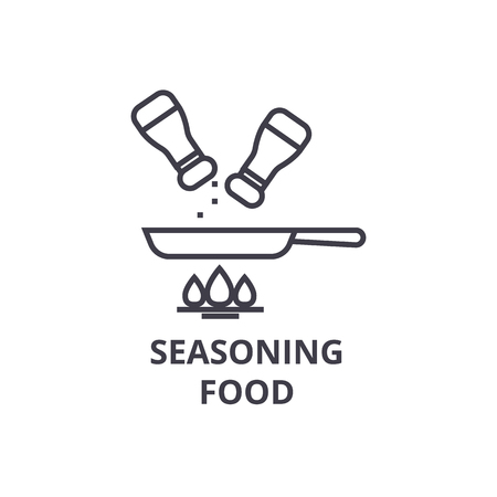 seasoning food line icon, outline sign, linear symbol, flat vector illustration 版權商用圖片 - 91076977