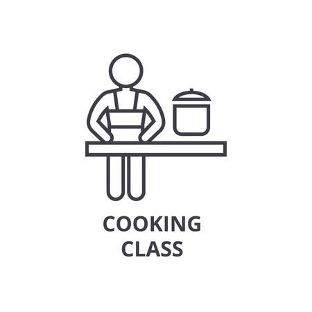 Cooking class line icon. Illustration