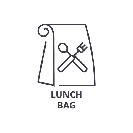 Lunch bag line icon.