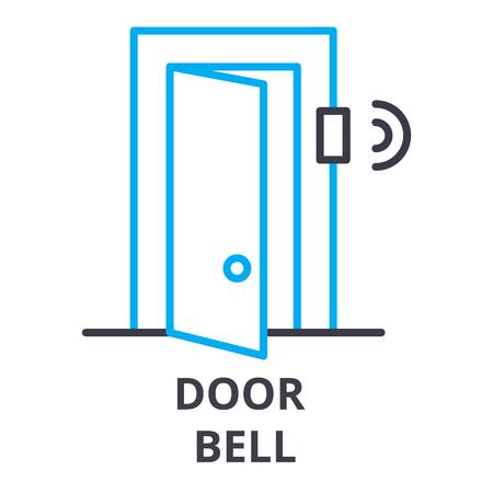 Door bell thin line icon. Stock Vector - 100103112