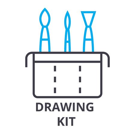 Drawing kit thin line icon vector illustration Stockfoto - 100103196
